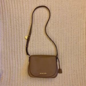 Taupe Michael Kors cross body purse
